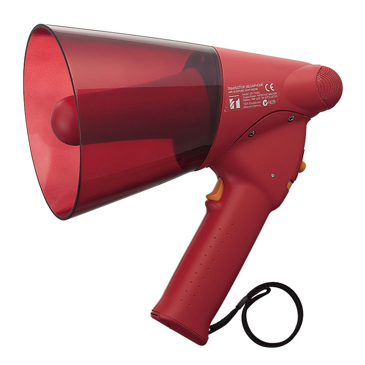 6W SPLASH PROOF MEGAPHONE,<br>SIREN SIGNAL