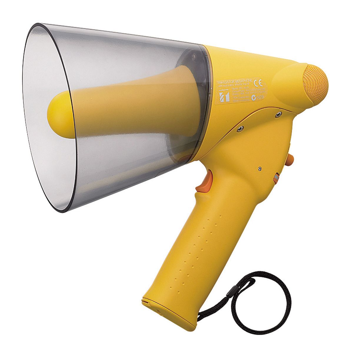 6W SPLASH PROOF MEGAPHONE,<br>WHISTLE SIGNAL